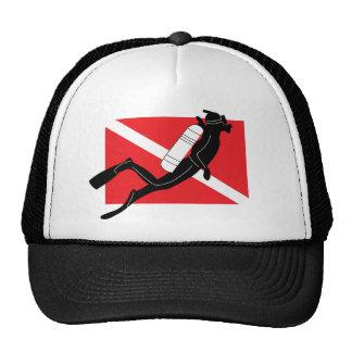 Bandera de la zambullida del EQUIPO DE Gorros Bordados