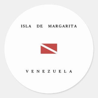 Bandera de la zambullida del equipo de pegatina redonda