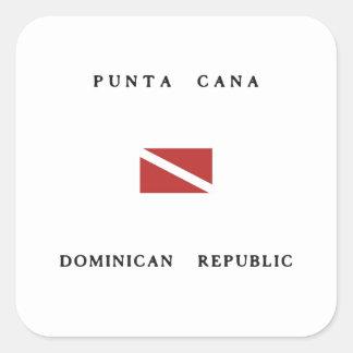 Bandera de la zambullida del equipo de pegatina cuadrada