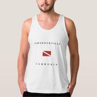 Bandera de la zambullida del equipo de playera de tirantes american apparel de jersey fin