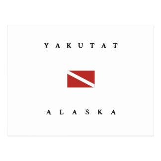 Bandera de la zambullida del equipo de postal