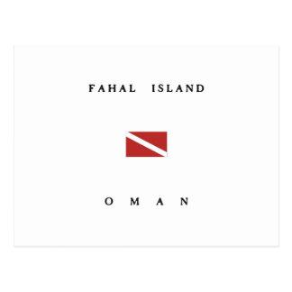 Bandera de la zambullida del equipo de tarjeta postal