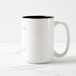 Bandera de la zambullida del equipo de taza de café de dos colores