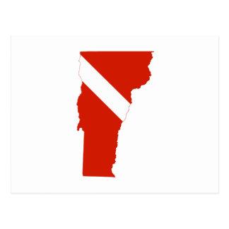 Bandera de la zambullida del estado de Vermont Postales