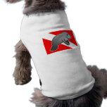Bandera de la zambullida del Manatee Playera Sin Mangas Para Perro