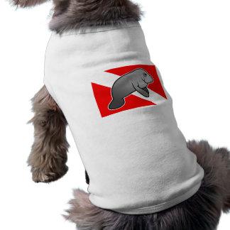 Bandera de la zambullida del Manatee Ropa De Perros