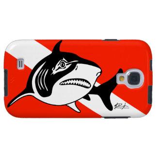 Bandera de la zambullida del tiburón de Bull Funda Para Galaxy S4