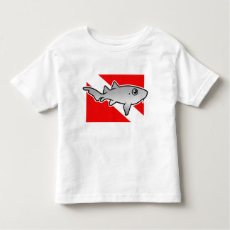 Bandera de la zambullida del tiburón de enfermera playeras
