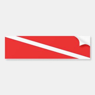 Bandera de la zambullida etiqueta de parachoque