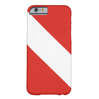 Bandera de la zambullida funda para iPhone 6 barely there