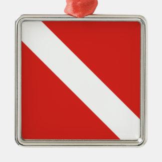 Bandera de la zambullida ornamentos de reyes