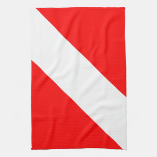 Bandera de la zambullida toalla de mano