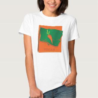 Bandera de la zanahoria del vegano poleras