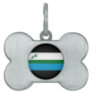 Bandera de Labrador (Canadá) Placa De Mascota