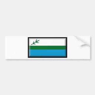 Bandera de Labrador (Canadá) Pegatina Para Auto