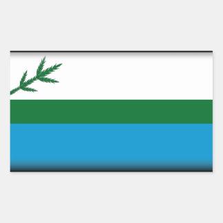 Bandera de Labrador (Canadá) Pegatina Rectangular
