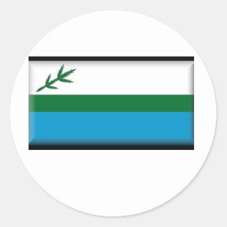 Bandera de Labrador (Canadá) Pegatina Redonda