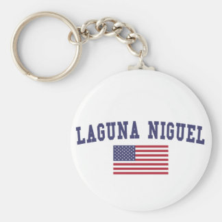 Bandera de Laguna Niguel los E.E.U.U. Llavero Redondo Tipo Pin