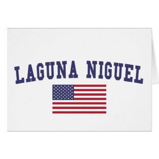 Bandera de Laguna Niguel los E.E.U.U. Tarjeta De Felicitación
