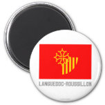 Bandera de Languedoc-Rosellón con nombre Iman