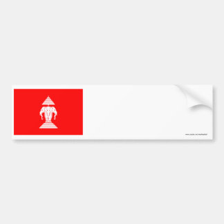 Bandera de Laos (1952-1975) Pegatina De Parachoque