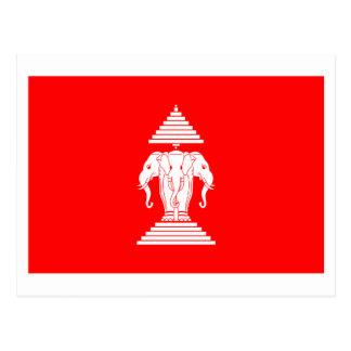 Bandera de Laos (1952-1975) Postales