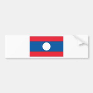 Bandera de Laos Pegatina Para Auto