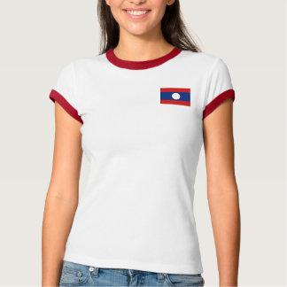 Bandera de Laos + Camiseta del mapa Remera
