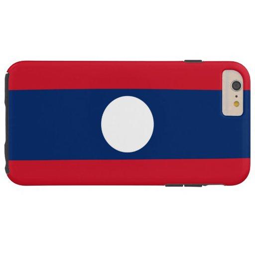 Bandera de Laos Funda De iPhone 6 Plus Tough