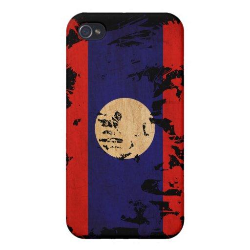 Bandera de Laos iPhone 4 Funda