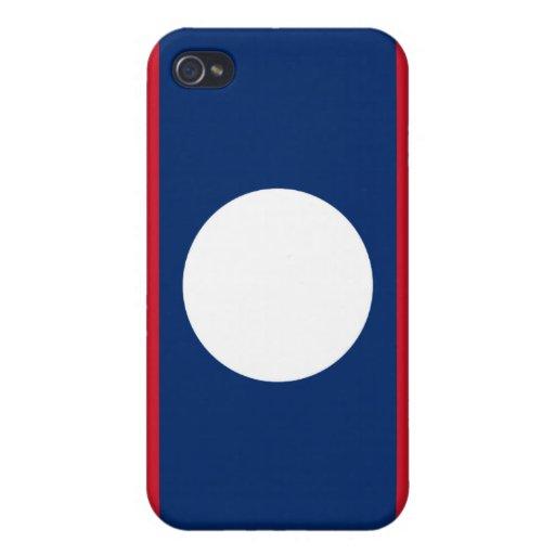 Bandera de Laos iPhone 4 Carcasa