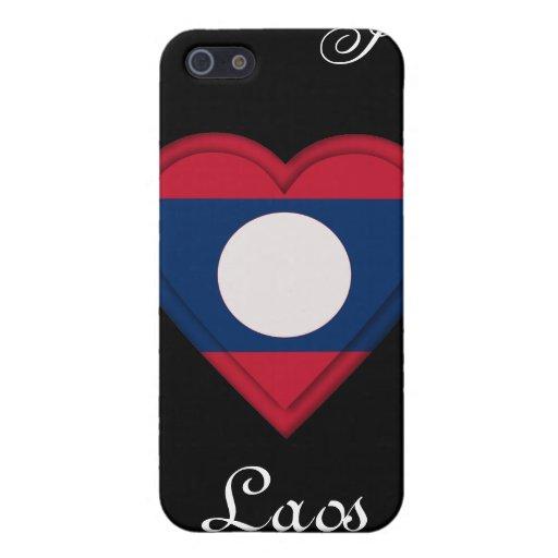 Bandera de Laos iPhone 5 Carcasas