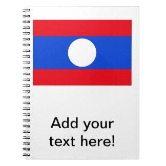 Bandera de Laos Libreta