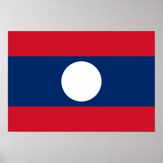 Bandera de Laos Impresiones