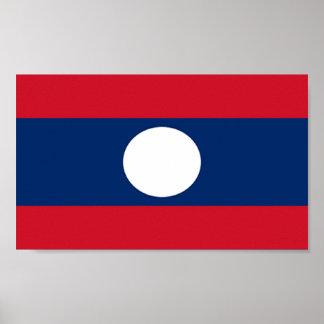 Bandera de Laos Posters