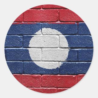 Bandera de Laos Pegatinas Redondas