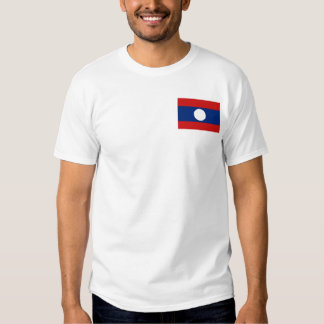 Bandera de Laos y camiseta del mapa Playera