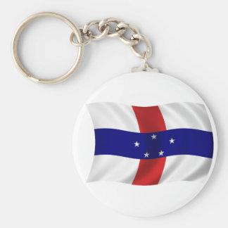 Bandera de las Antillas holandesas Llavero Redondo Tipo Pin