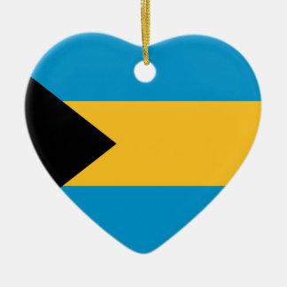 Bandera de las Bahamas Ornamento Para Arbol De Navidad