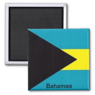 Bandera de las Bahamas Imán Cuadrado