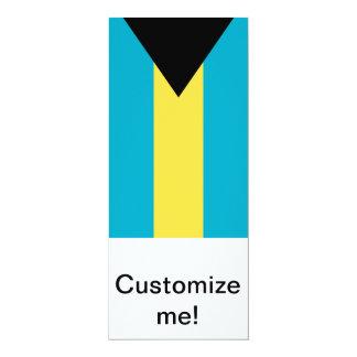 Bandera de las Bahamas Invitación 10,1 X 23,5 Cm