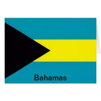 Bandera de las Bahamas Felicitacion