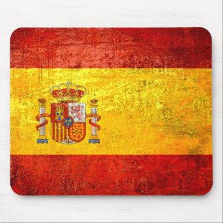 Bandera de las banderas de país del Grunge de Espa Mouse Pad