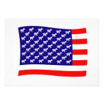 Bandera de las barras y estrellas de Demócrata