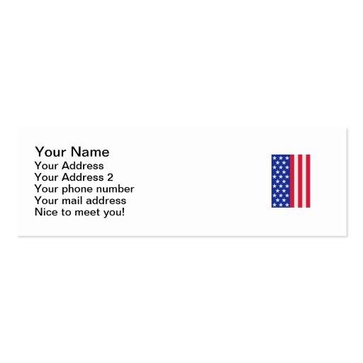 Bandera de las barras y estrellas de Estados Unido Tarjetas De Visita Mini
