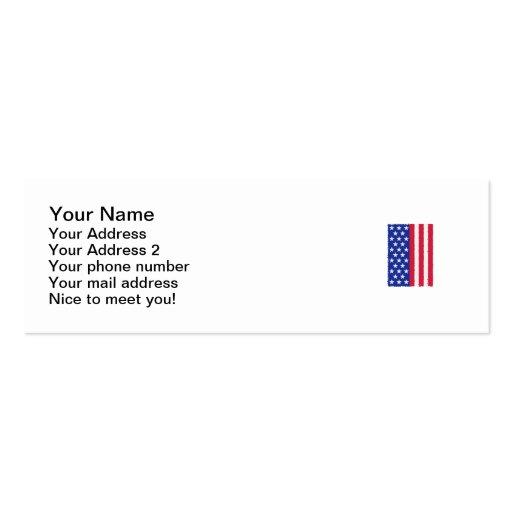 Bandera de las barras y estrellas de los E.E.U.U. Plantilla De Tarjeta De Visita