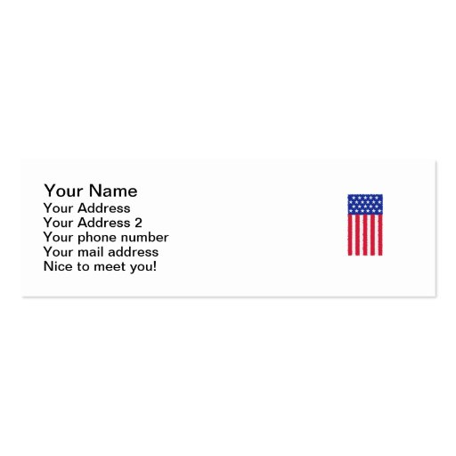 Bandera de las barras y estrellas tarjetas de visita mini