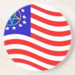 Bandera de las colonias del Pentagram que agita Posavasos Personalizados