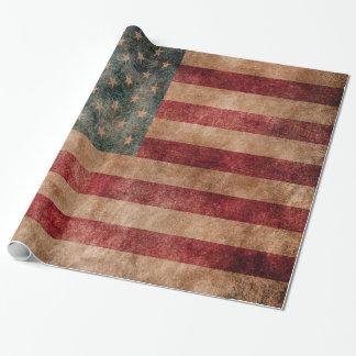 Bandera de las estrellas y de las rayas de los papel de regalo