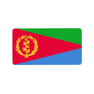 Bandera de las etiquetas de Eritrea Etiquetas De Dirección